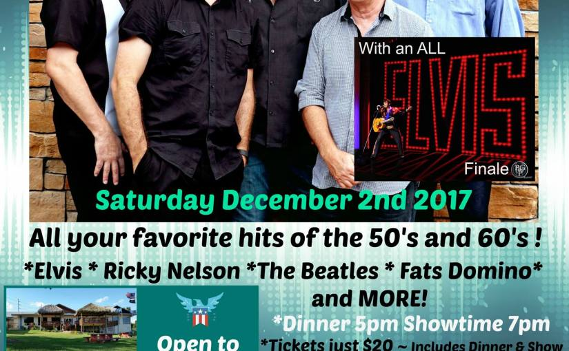 Peter Alden and the Corvairs with ELVIS Finale December 2nd 2017