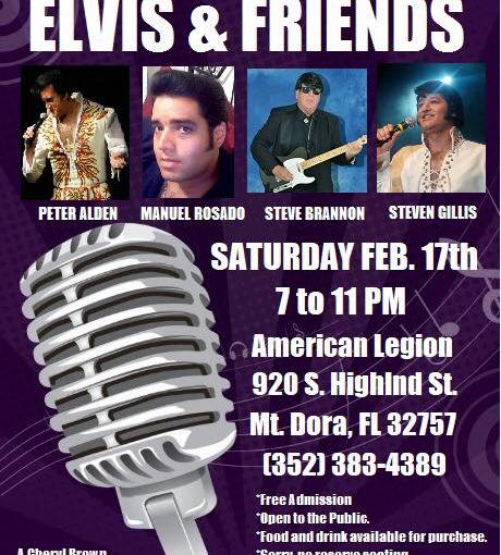 Cheryl Brown Elvis and Friends ~ Saturday, February 17 at 7 PM