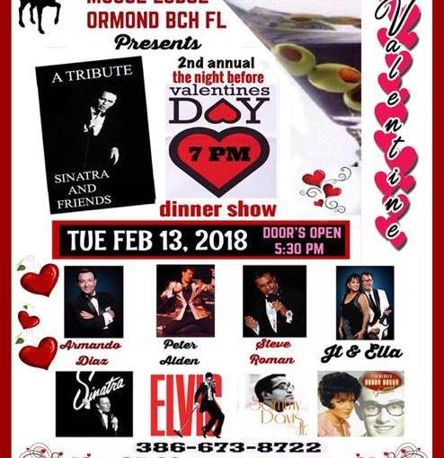 Ormond Beach Moose Lodge ~ Tuesday February 13, 2018