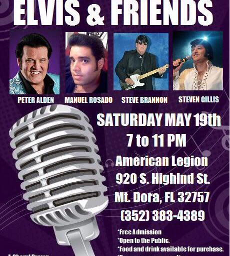 Cheryl Brown's Elvis and Friends Saturday May 19th 2018