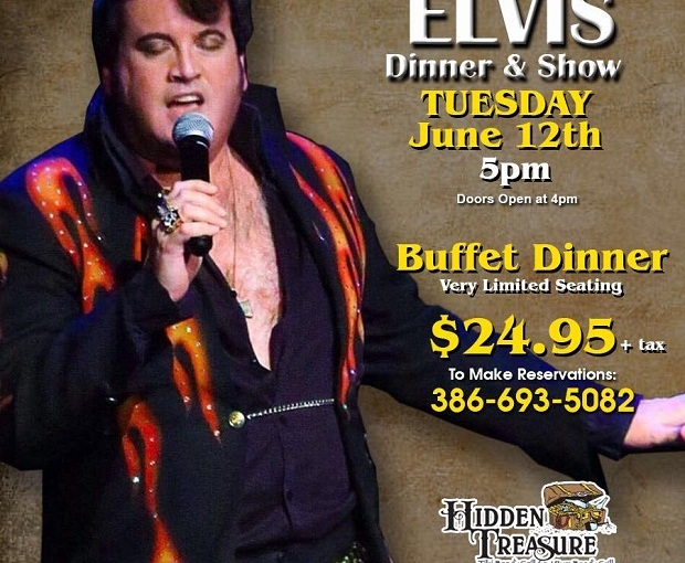 Dinner Show with Elvis… June 12th 2018 5pm