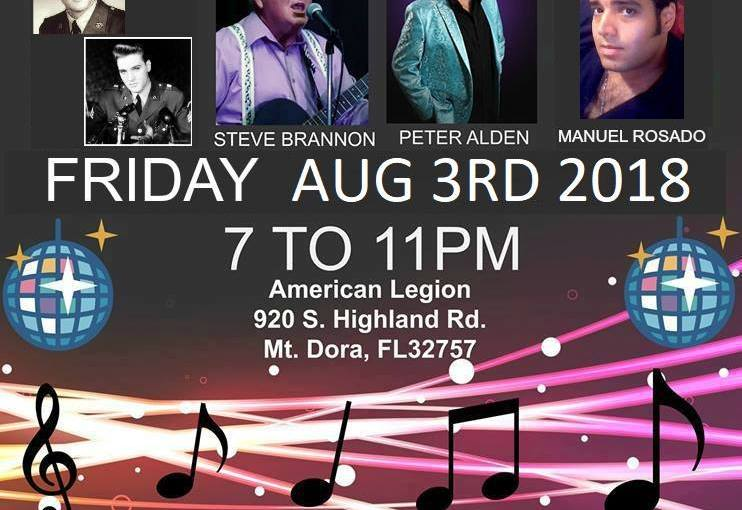 Cheryl Brown's Elvis and Friends August 3rd 2018 from 7pm -11pm
