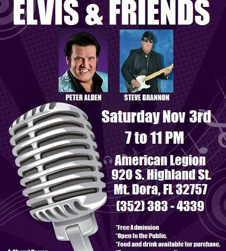 Cheryl Brown's Elvis and Friends… November 3rd, 2018