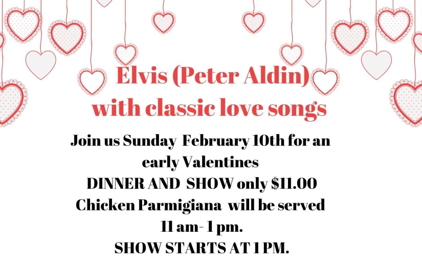 Classic Love Songs by Peter Alden at Kissimmee Eagles February 10th 2019