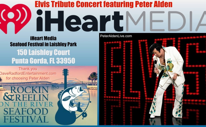 Elvis Tribute Concert featuring Peter Alden… Saturday, March 9, 2019
