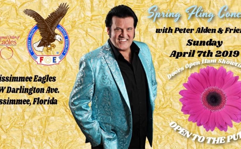Peter Alden's & Friends Spring Fling…                  Sunday, April 7th,2019