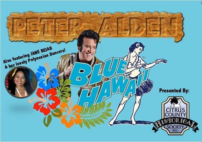Peter Alden… Blue Hawaii at The Old Courthouse Heritage Museum. June 20,2019